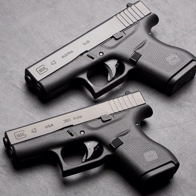The Glock 42 is the .380 single stack pistol and the Glock ...
