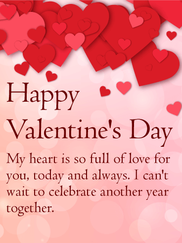 My Heart is Full of Love - Happy Valentine\'s Day Card: This ...