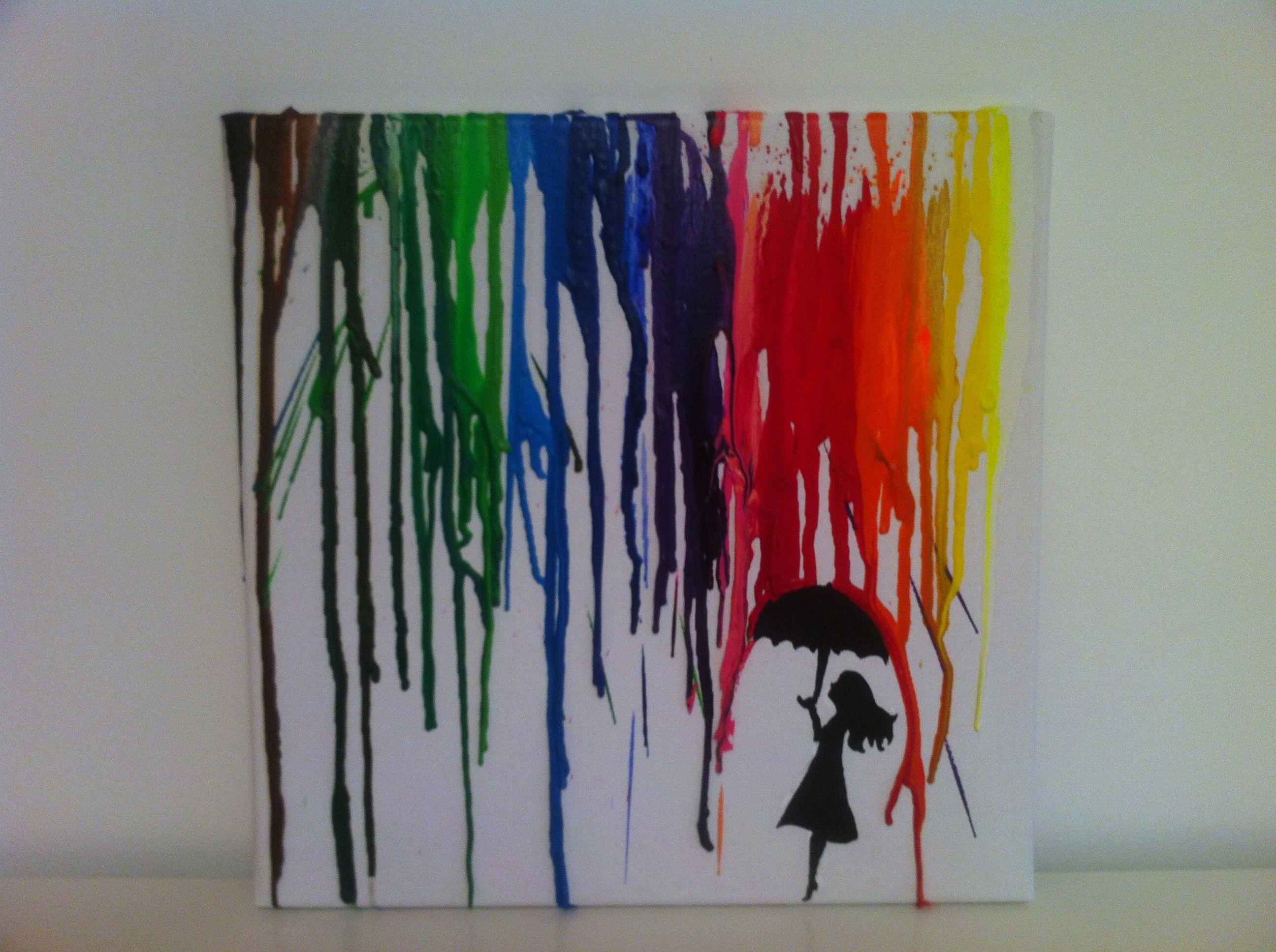 Melted Crayon Art )