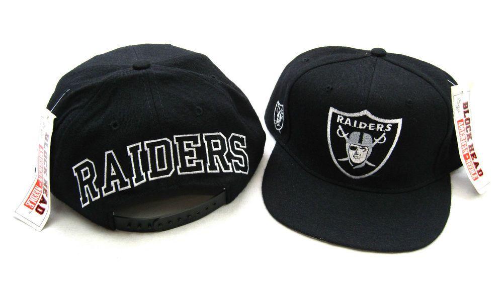 4853f9d0484 80s VTG LA LOS ANGELES RAIDERS BLOCKHEAD SNAPBACK HAT by AMERICAN NEEDLE  Eazy E  BaseballCap