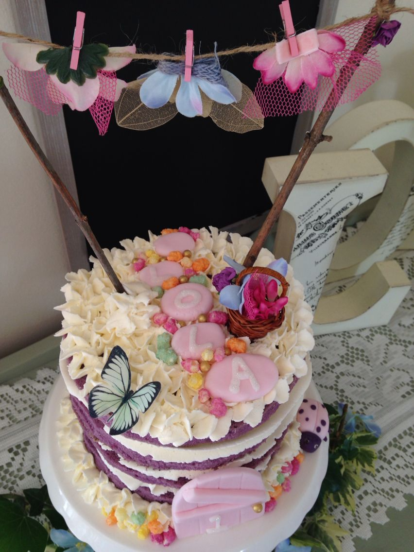 Enchanted garden cake with fairy washing line (With images ...