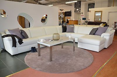 Incredible Natuzzi Sensor Corner Suite Massive Sofa White Leather Rrp Cjindustries Chair Design For Home Cjindustriesco