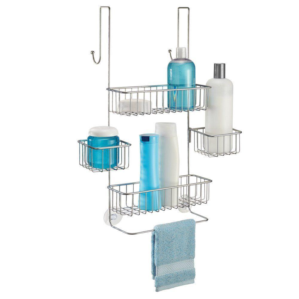 Amazon.com: InterDesign Metalo Bathroom Over Door Shower Caddy for ...
