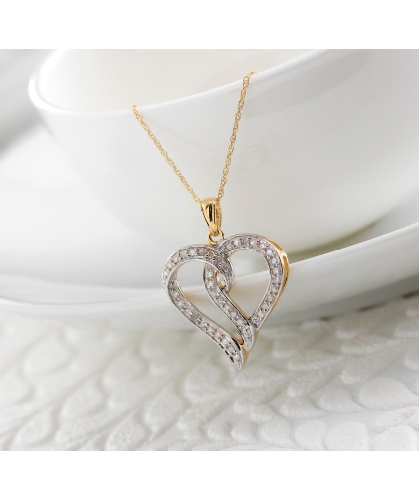 Buy 9ct Gold Diamond ¼ Carat Heart Pendant at Argos.co.uk ...