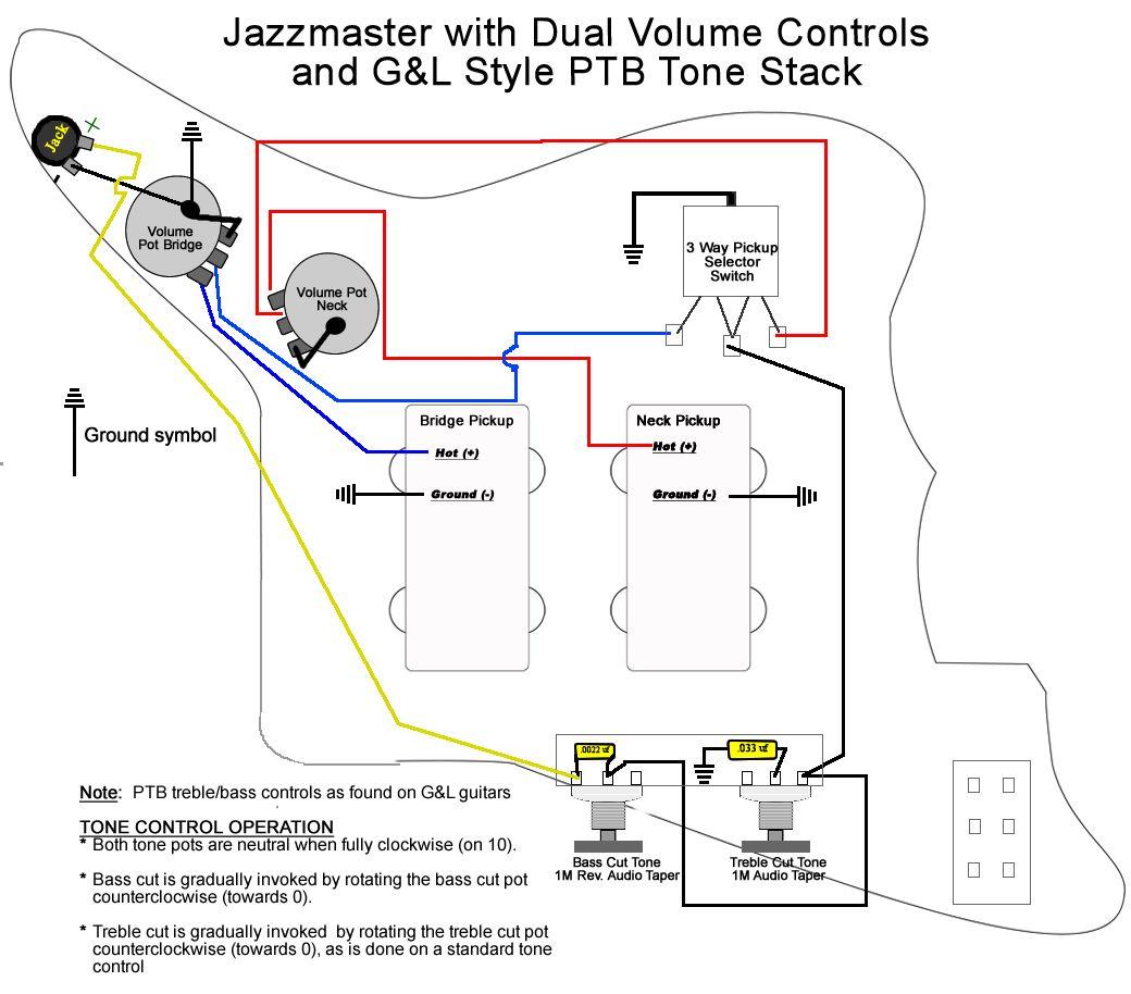 Jazzmaster Dual Volume With Ptb Tonestack Series Parallel Guitar Guitar Pickups