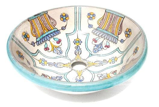 Gallery Website Fes pottery sink all handmade u hand painted a great add to any home