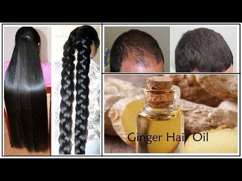 Homemade Ginger Hair Oil For Long Hair, Soft Hair, Smooth Hair,Thick hair and Healthy Hair - YouTube