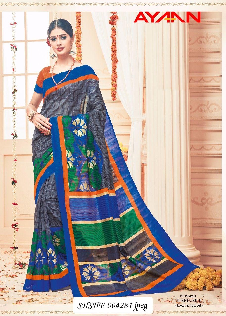 b89c5b744a Heavy Designer Printed Saree!! Work: Beautiful Printed Toshin Silk  (Bhagalpuri Khadi Silk) With Exclusive Foil.!! !! Saree Fabric: Silk,  Bhagalpuri Khadi ...