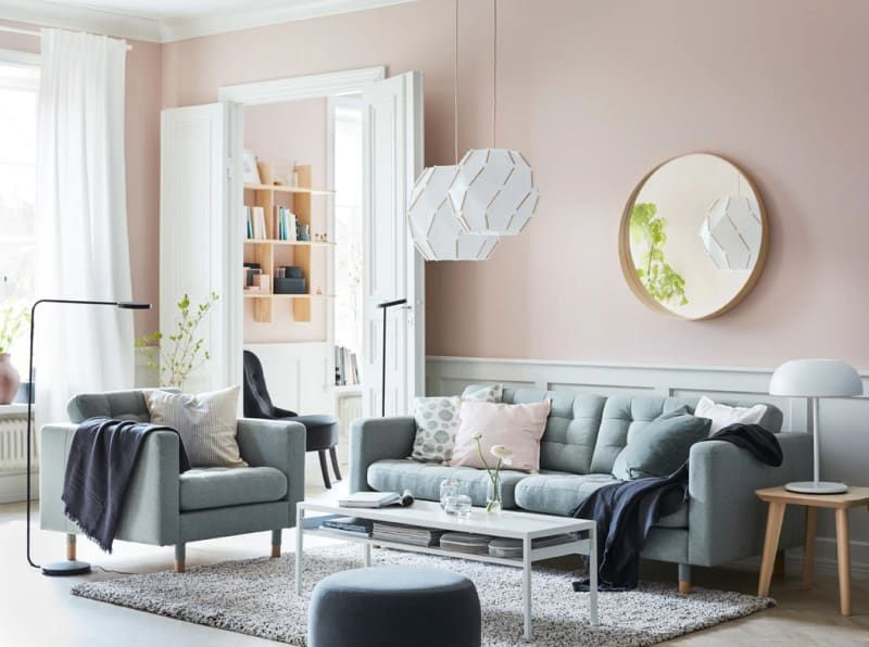 10 Colorful Living Room Ideas To Steal From Ikea Ikea Living Room Furniture Pink Living Room Living Room Paint