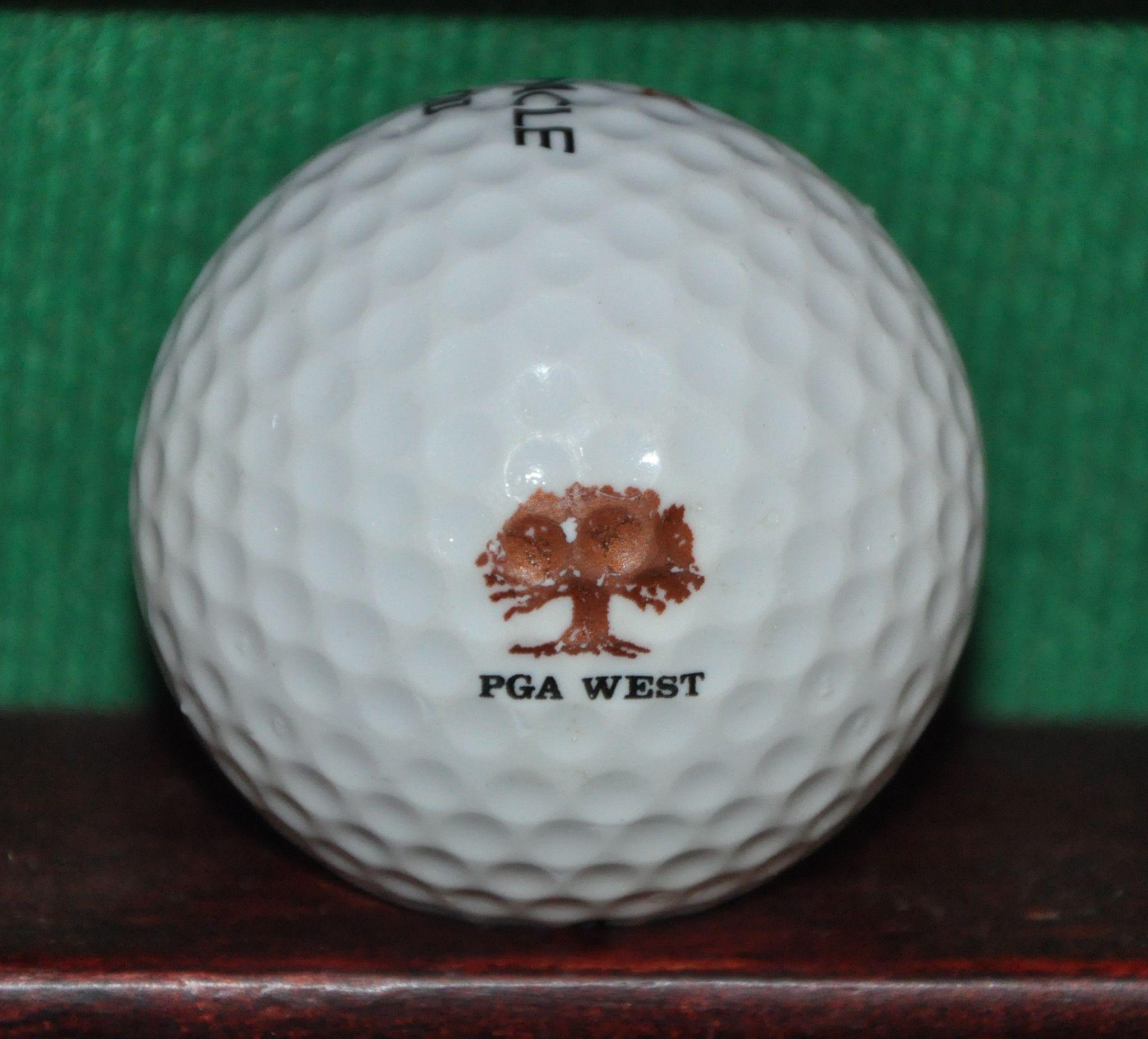 Vintage Pga West At Palm Springs Logo Golf Ball Golf Ball Golf Spring Logo