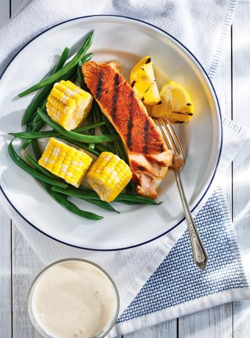 Cajun Spice Salmon And Vegetables Recipe Lemon