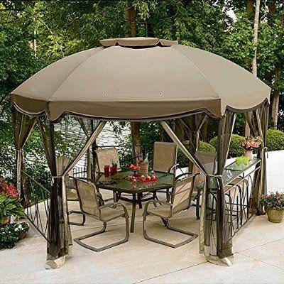 Garden Oasis Grandview Hex Gazebo Replacement Canopy With Images Patio Gazebo Gazebo Canopy Gazebo