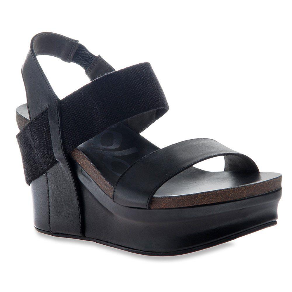 Black sandals on amazon - Amazon Com Otbt Women S Bushnell Wedge Sandal Clothing