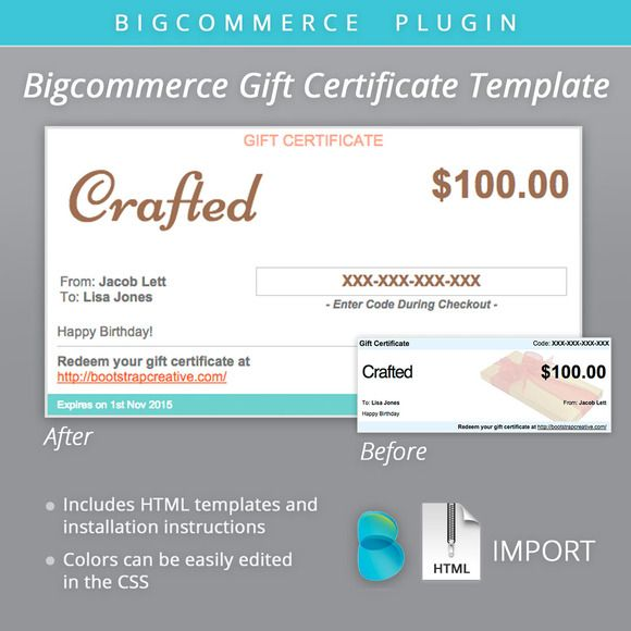 Bigcommerce gift certificate email by bootstrap creative on bigcommerce gift certificate email by bootstrap creative on creativework247 yelopaper Images