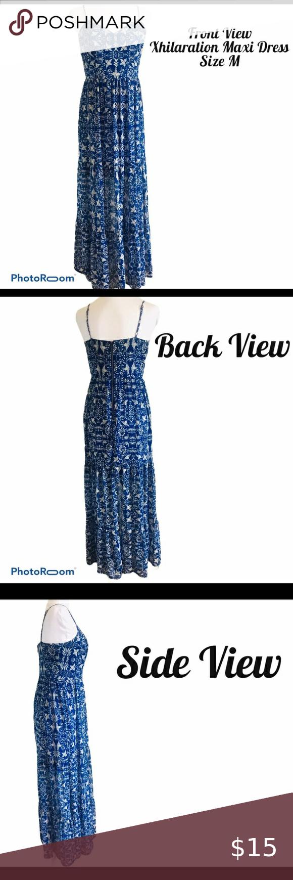 Xhilaration Maxi Dress W Adjustable Straps Size M Maxi Dress Xhilaration Maxi [ 1740 x 580 Pixel ]