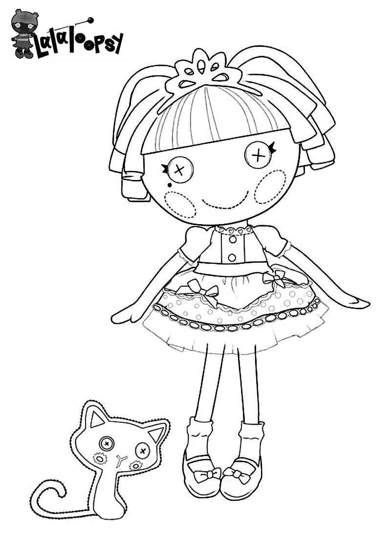 lalaloopsy coloring pages facebook likes - photo#8
