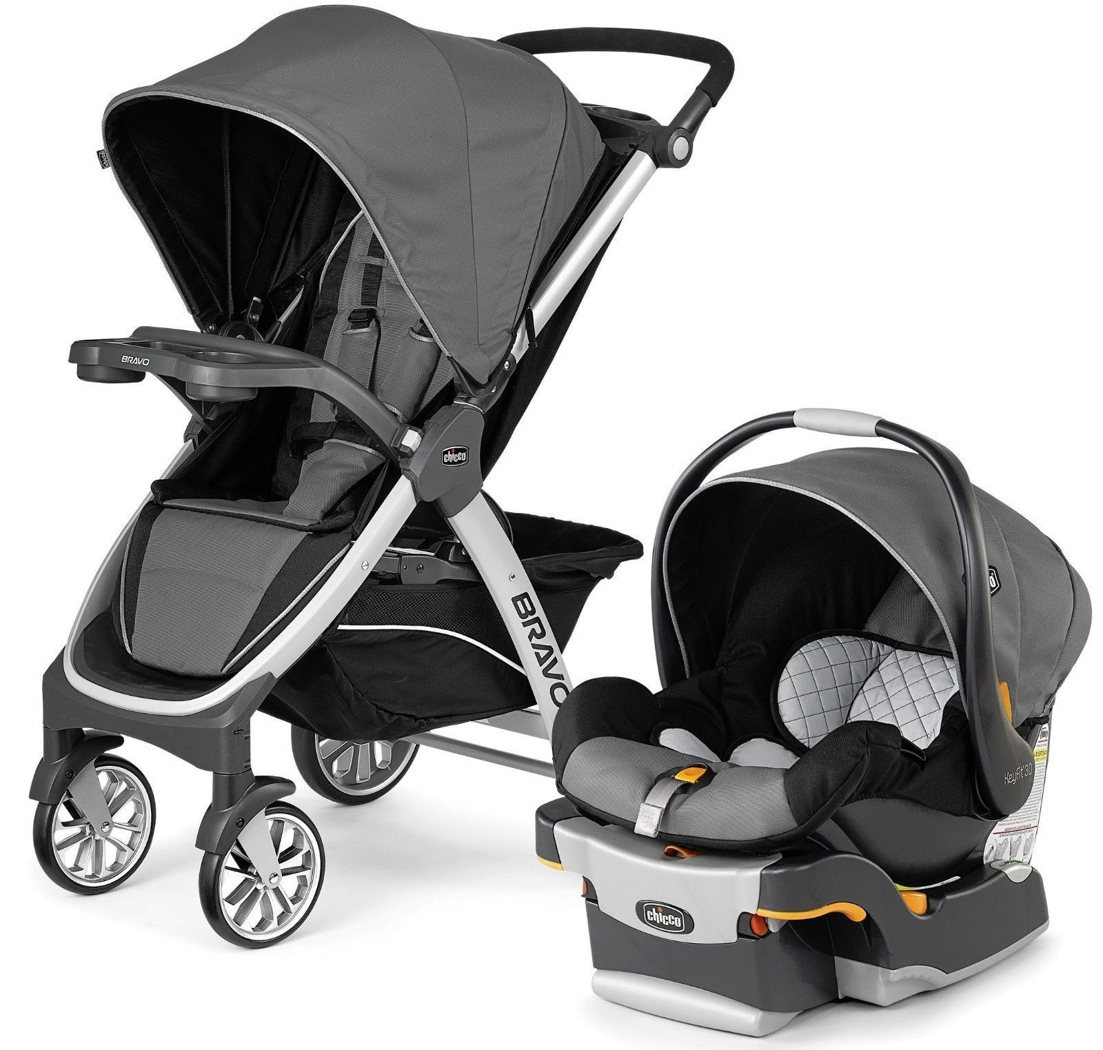 Chicco Bravo Trio Travel System 3-in-1 Baby Travel System Stroller ...