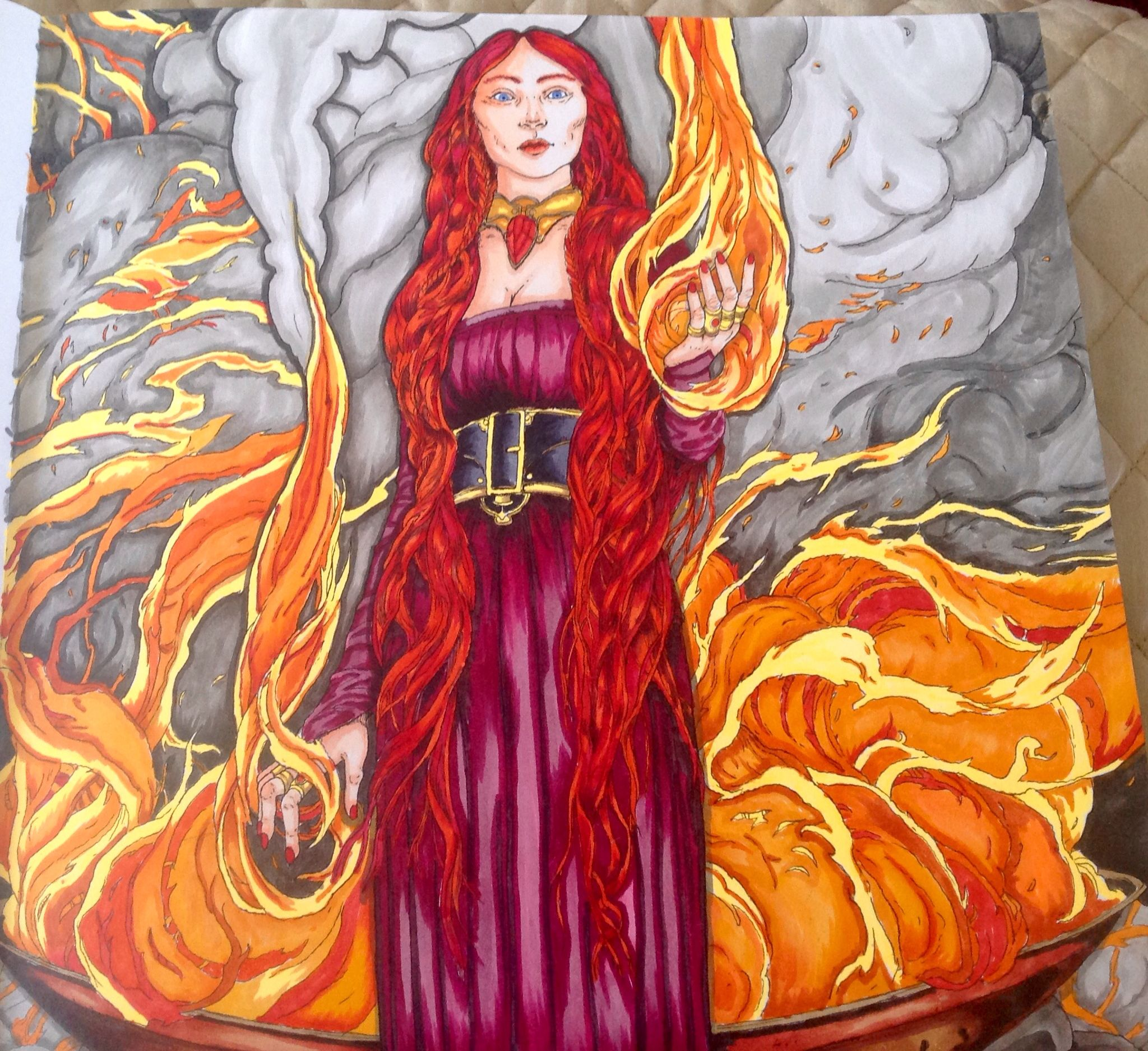 Game Of Thrones Coloring Book Colored By Sonya SenaMargason Copic