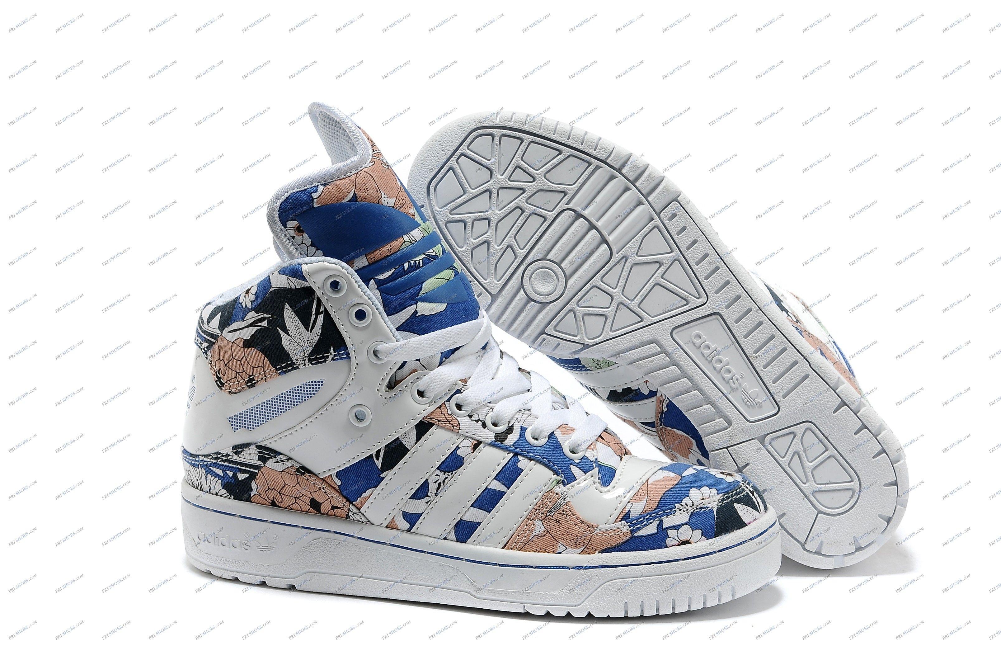 Adidas Honey Mid Blue Flower Women S Running Shoes Adidas Originals Shop Adidas Running Shoes Women Running Shoes On Sale Adidas Honey