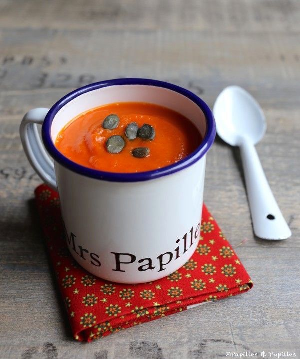 Soupe de butternut poivrons rouges et patate douce recipe thermomix food and taste buds - Soupe butternut thermomix ...
