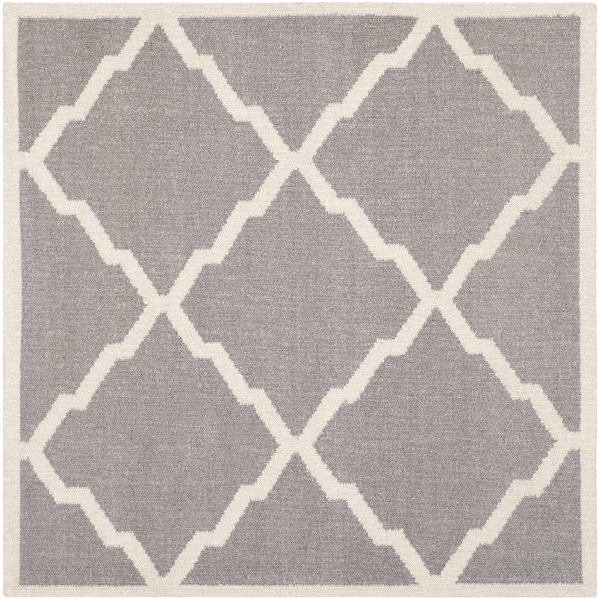 Brambach Handwoven Wool Grey Area Rug Moroccan Area Rug