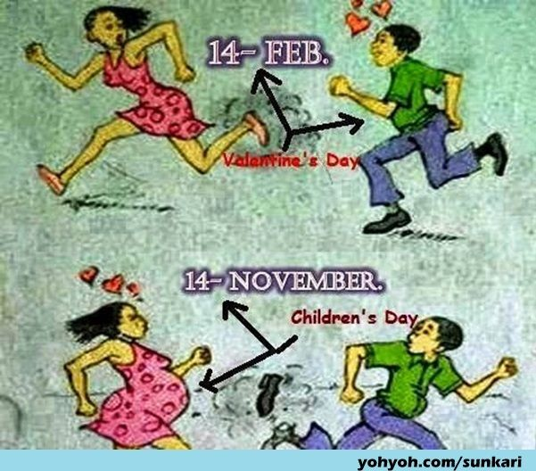 Most Funny Newstons 3rd Law Action Reaction In India Funny Valentines Jokes Funny Cartoon Photos Valentines Day Funny Images