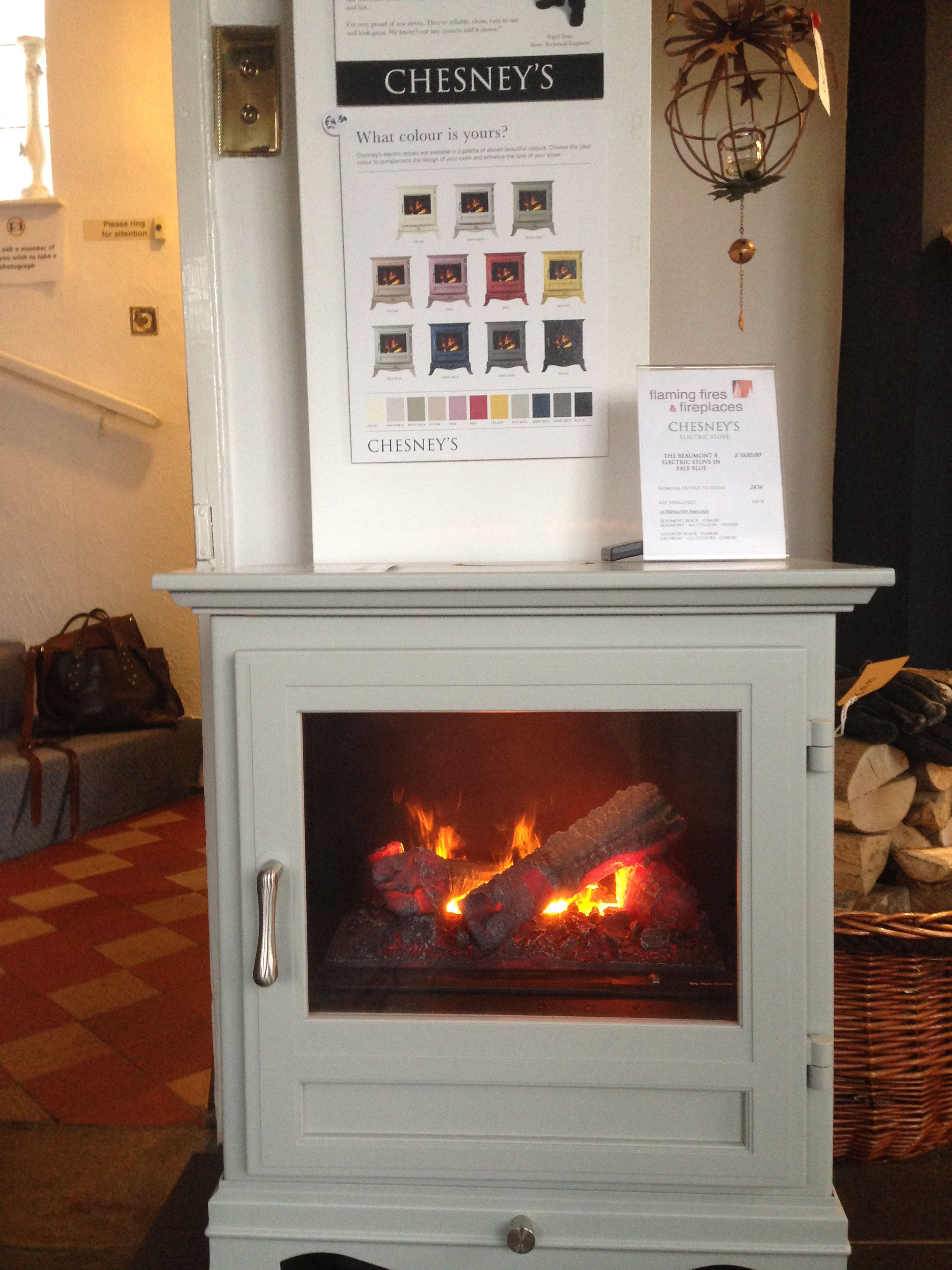 chesneys beaumont8 electric stove in pale blue net efficiency