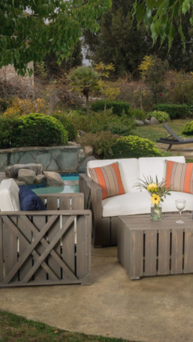 Whitewashed Overstuffed Comfy Furniture White Washed Patio Plans