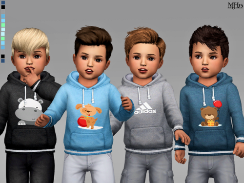 "margeh75:  ""  S4 Toddler Sports Hoodie [M]  -cute hoodies for male toddlers. With cute appliques and adidas logos.  -14 versions  -cas thumbnail  DOWNLOAD """