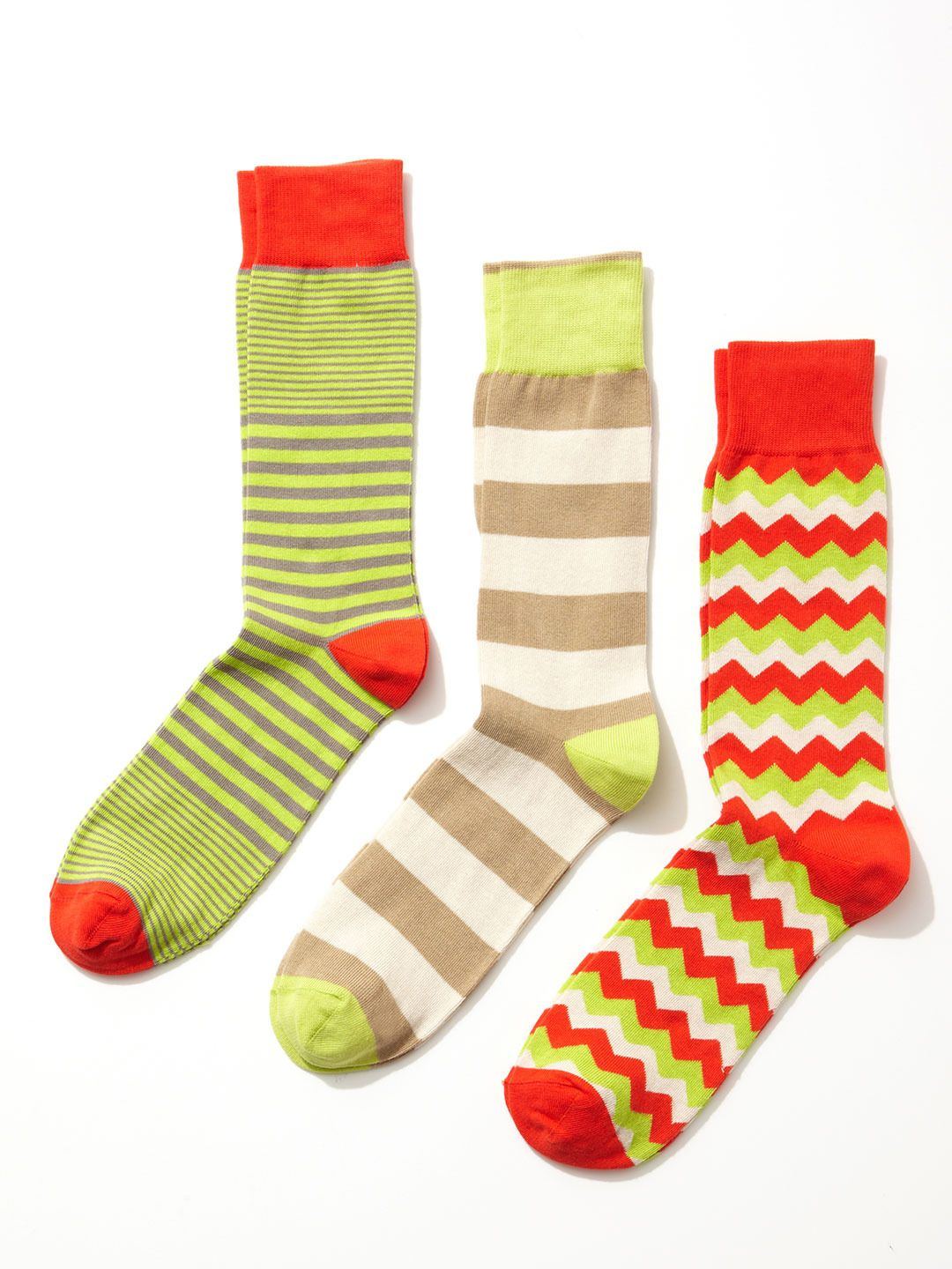 Zigzag and Stripe Socks (3 Pack) by Clapham at Gilt