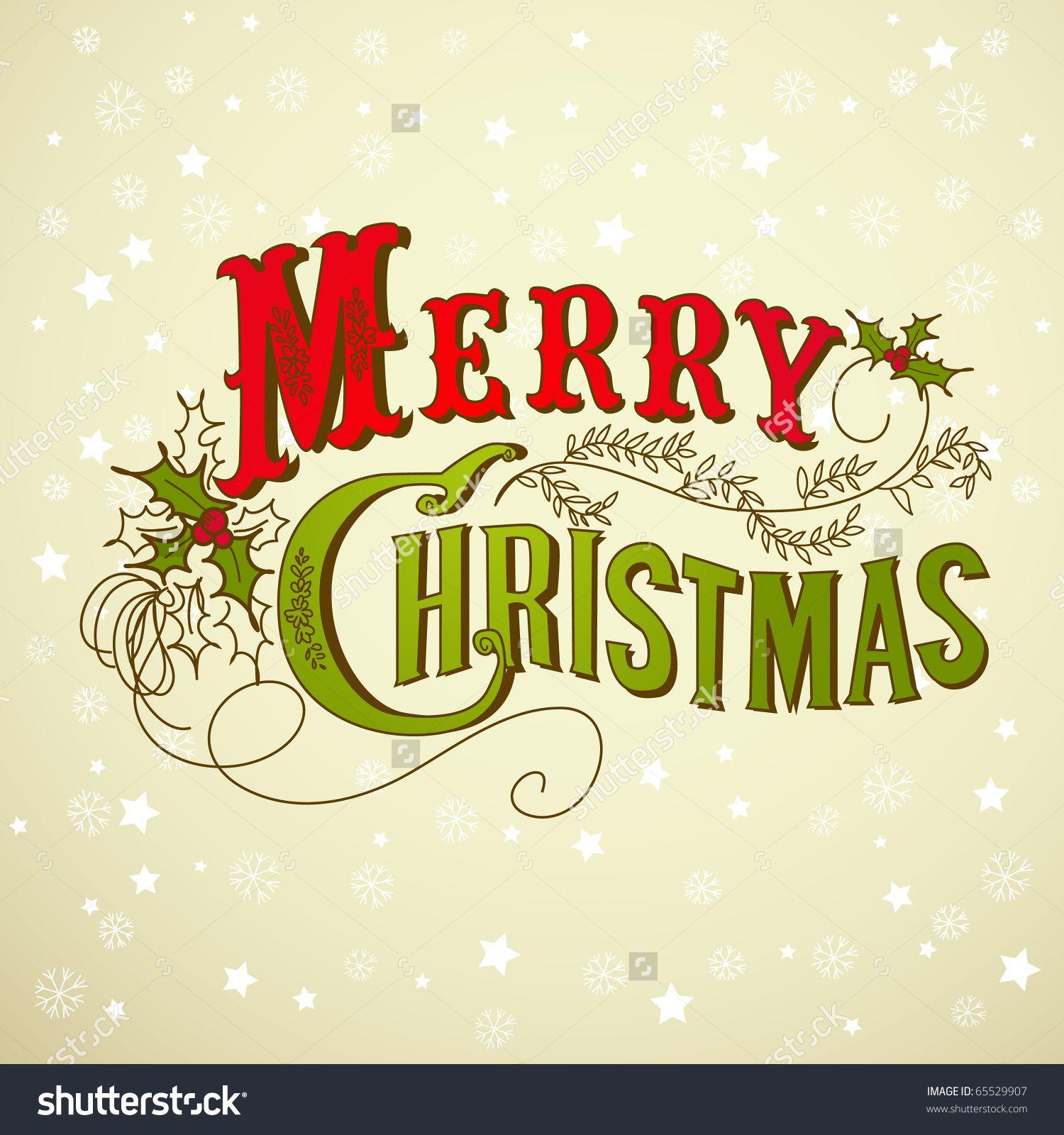 Vintage christmas card merry christmas lettering stock vector vintage christmas card merry christmas lettering stock vector illustration 65529907 shutterstock kristyandbryce Gallery