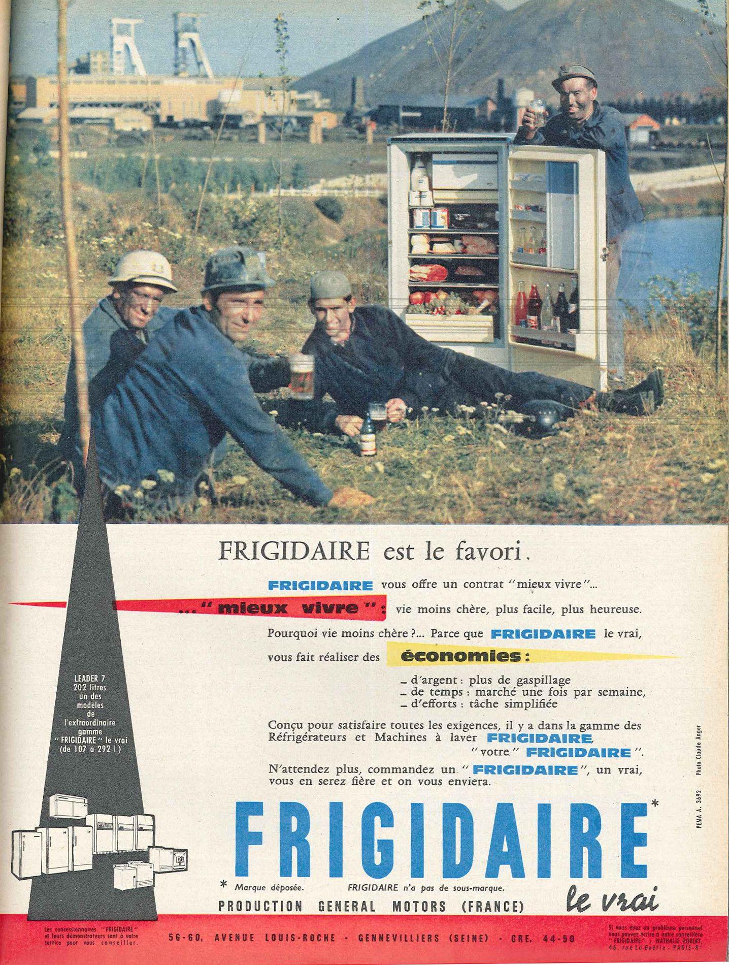 r frig rateurs frigidaire elle 8 avril 1960 publicit s ann es 60 pinterest ann es 60 et. Black Bedroom Furniture Sets. Home Design Ideas