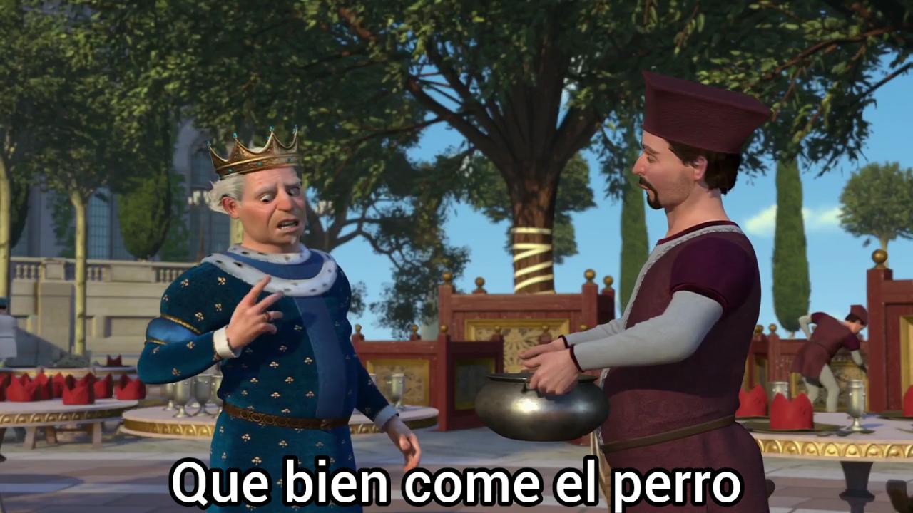 Que Bien Come El Perro Shrek 2 2004 Principe Harold En 2020 Memes Divertidos Memes De Risa Memes