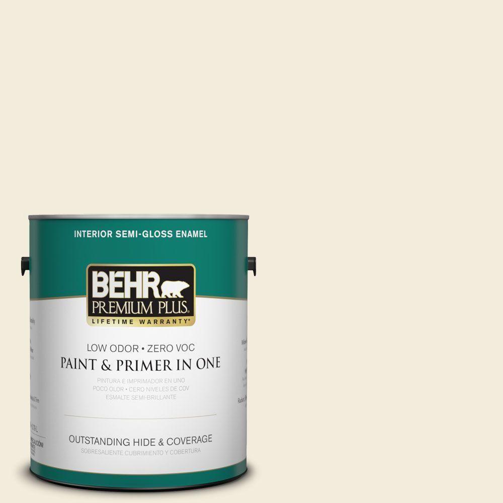 BEHR Premium Plus 1-gal. #bwc-02 Confection Semi-Gloss Enamel Interior Paint