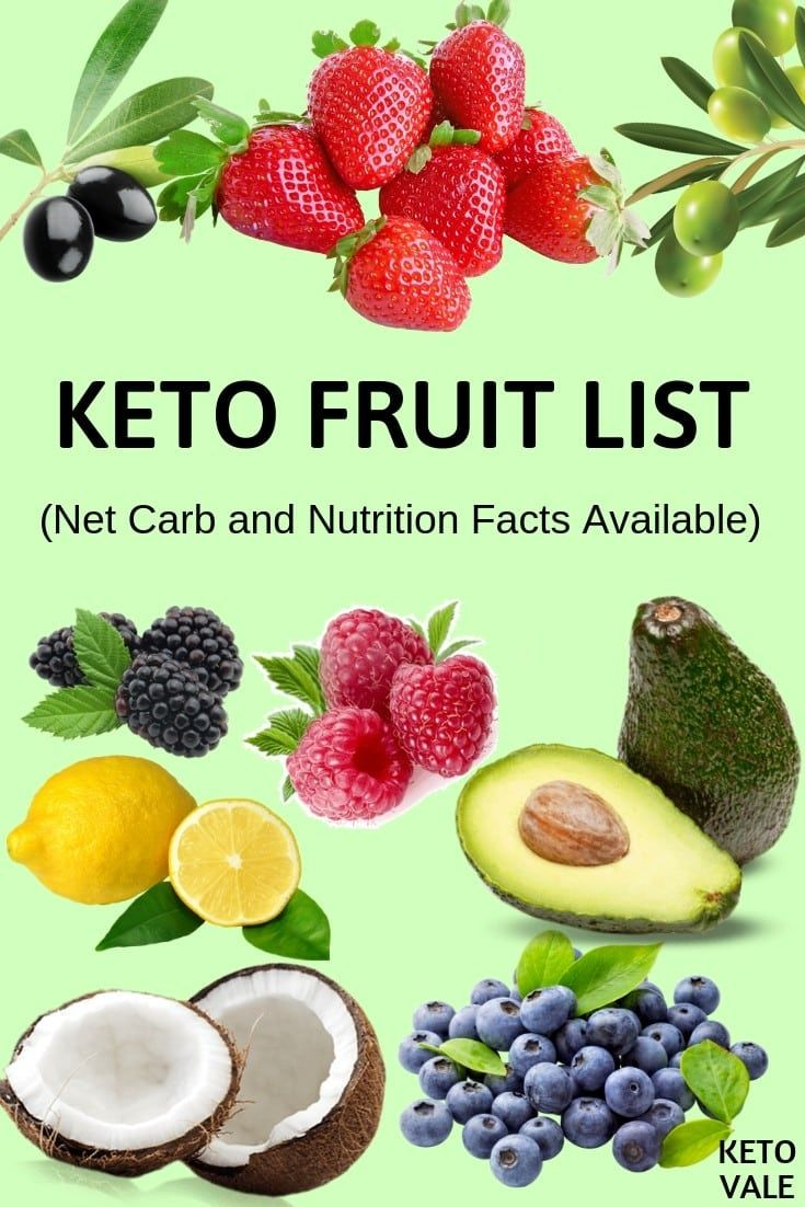 List of Low Carb Keto-Friendly Fruits & Their Net Carb