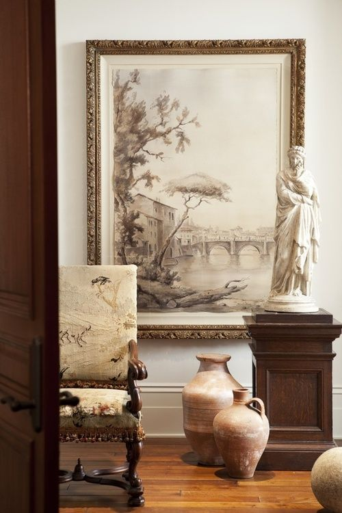 This Neutral Entryway Is Classically Inspired A Marble