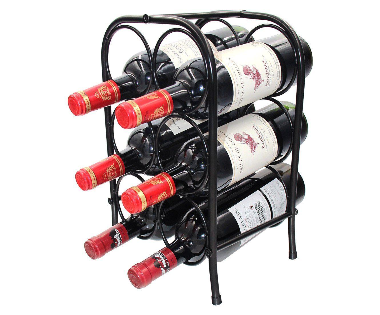 Pag 6 Bottles Free Standing Metal Wine Racks Small Wine Holders