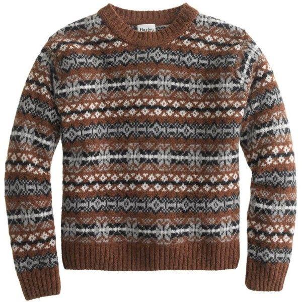 J.Crew Harley Of Scotland Fair Isle Sweater ($220) ❤ liked on ...