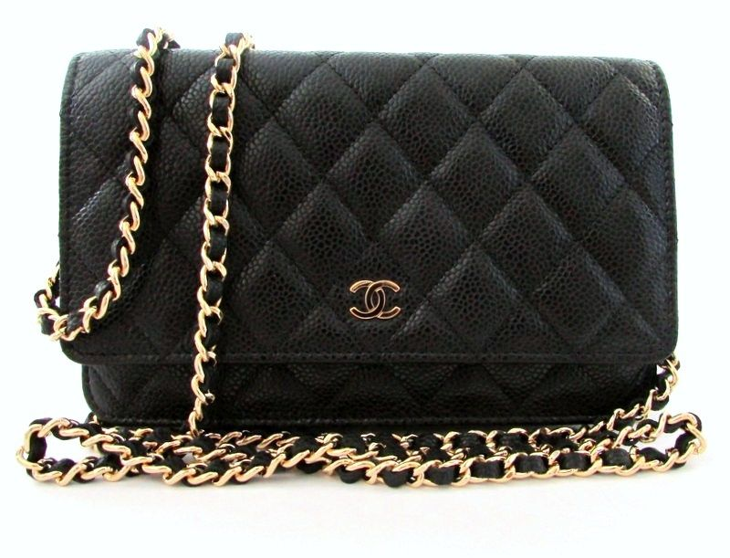 094c66008f Chanel Classic Black Quilted Caviar WOC, $1775 | Fashion: Classic ...