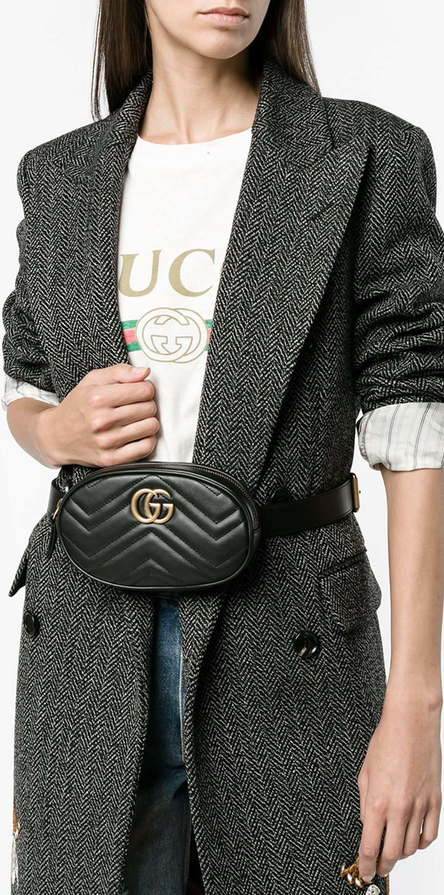 63dbfbfb725e GUCCI GG Marmont matelassé belt bag, explore new season Gucci on Farfetch.
