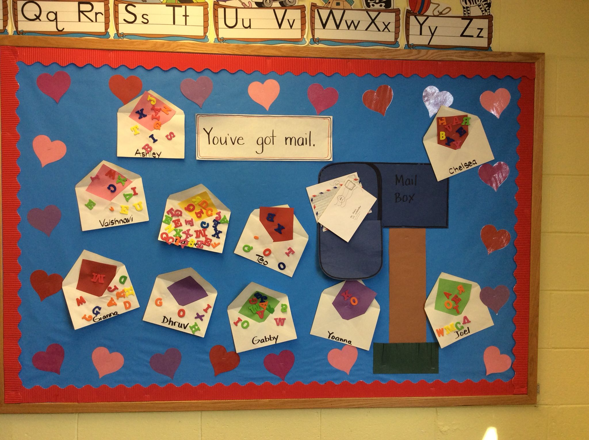 Post Office Theme Bulletin Board We Do This Theme In February And Tie In Valentine S Day