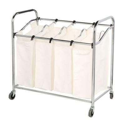 Whitmor Chrome Laundry Collection 36 In X 33 In Chrome And