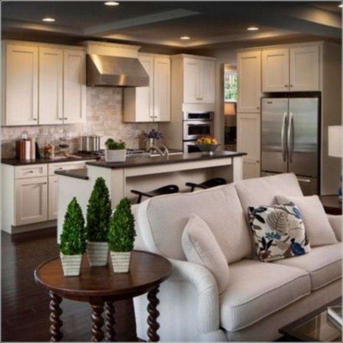 11 Tips To Optimize The Small Living Room For A Tiny House Open Concept Kitchen Living Room Open Concept Living Room Open Concept Kitchen Living Room Small #small #living #room #with #kitchen #ideas