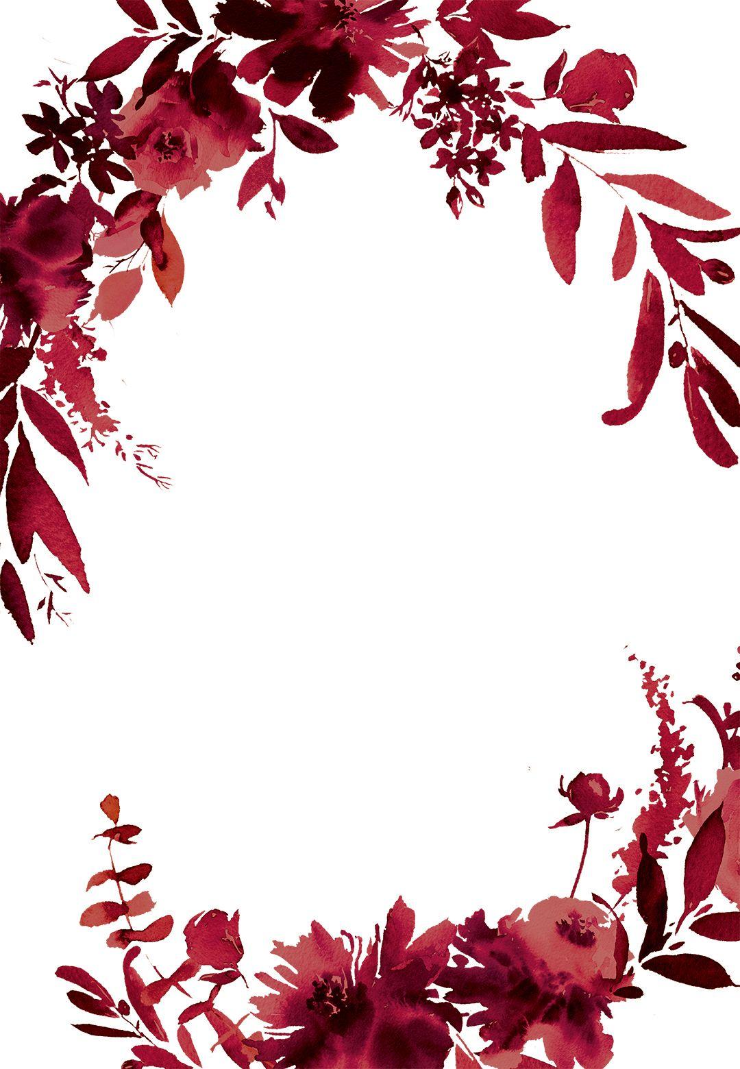 Indigo Flowers Free Christmas Invitation Template