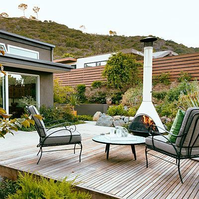 Midcentury Modern Makeover Modern Backyard Backyard Fireplace