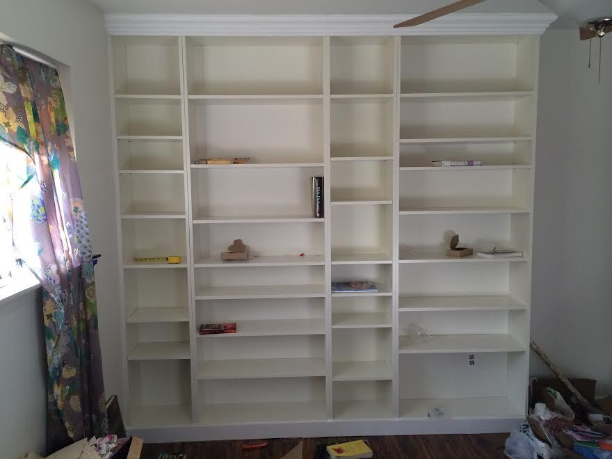 Diy Ikea Billy Bookcase Built In Bookshelves Part 2