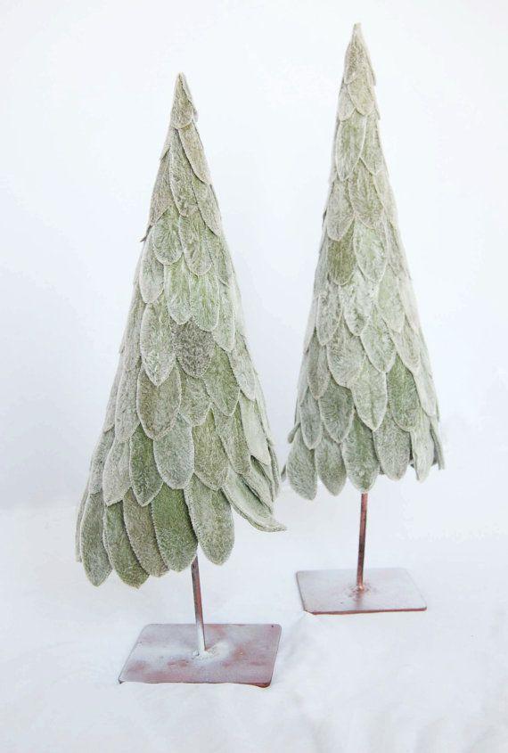 {Stachys byzantina leaf} Christmas Trees