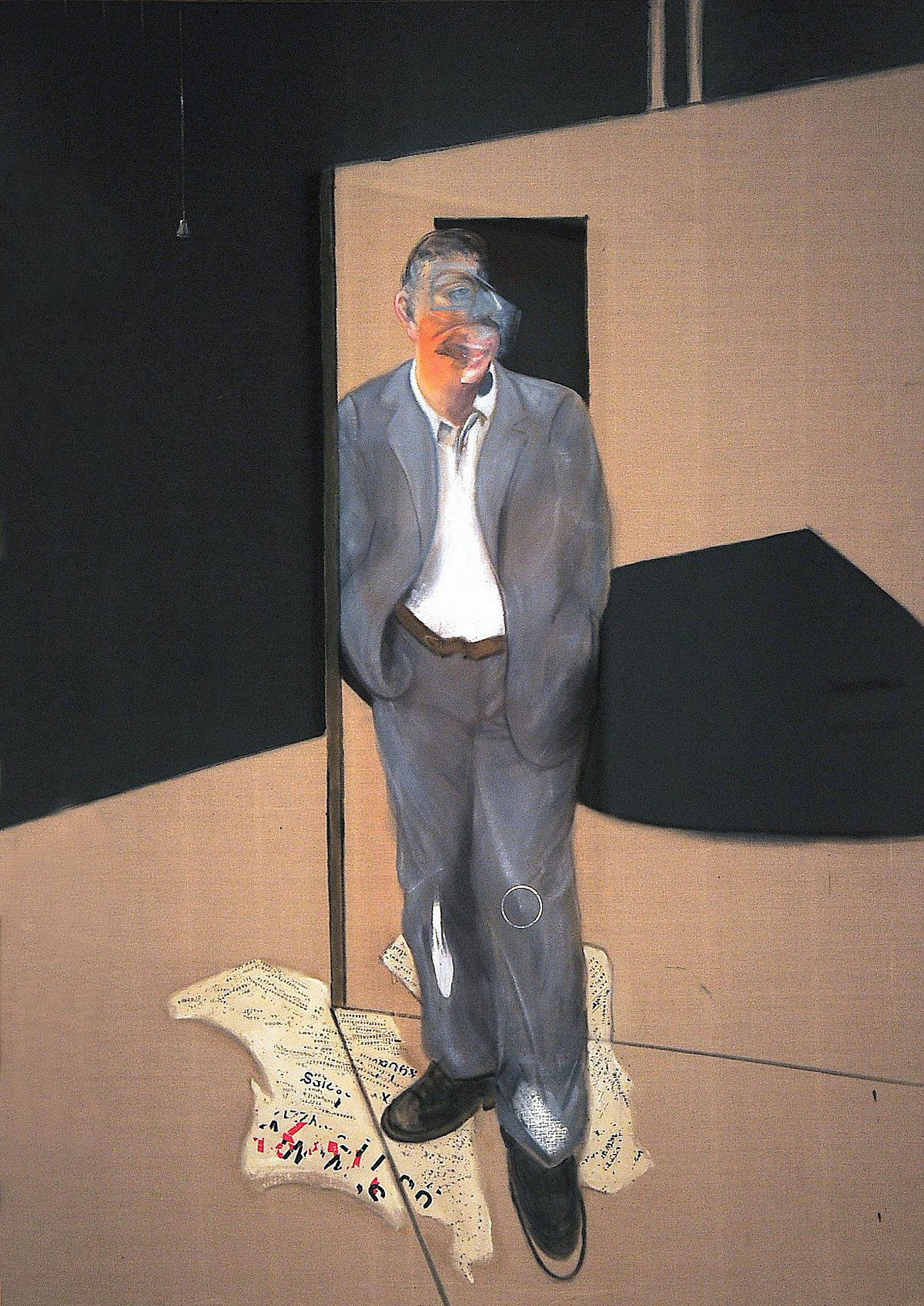 uncleheinerich:   Francis Bacon, Study of a Man Talking, 1981. Oil on canvas