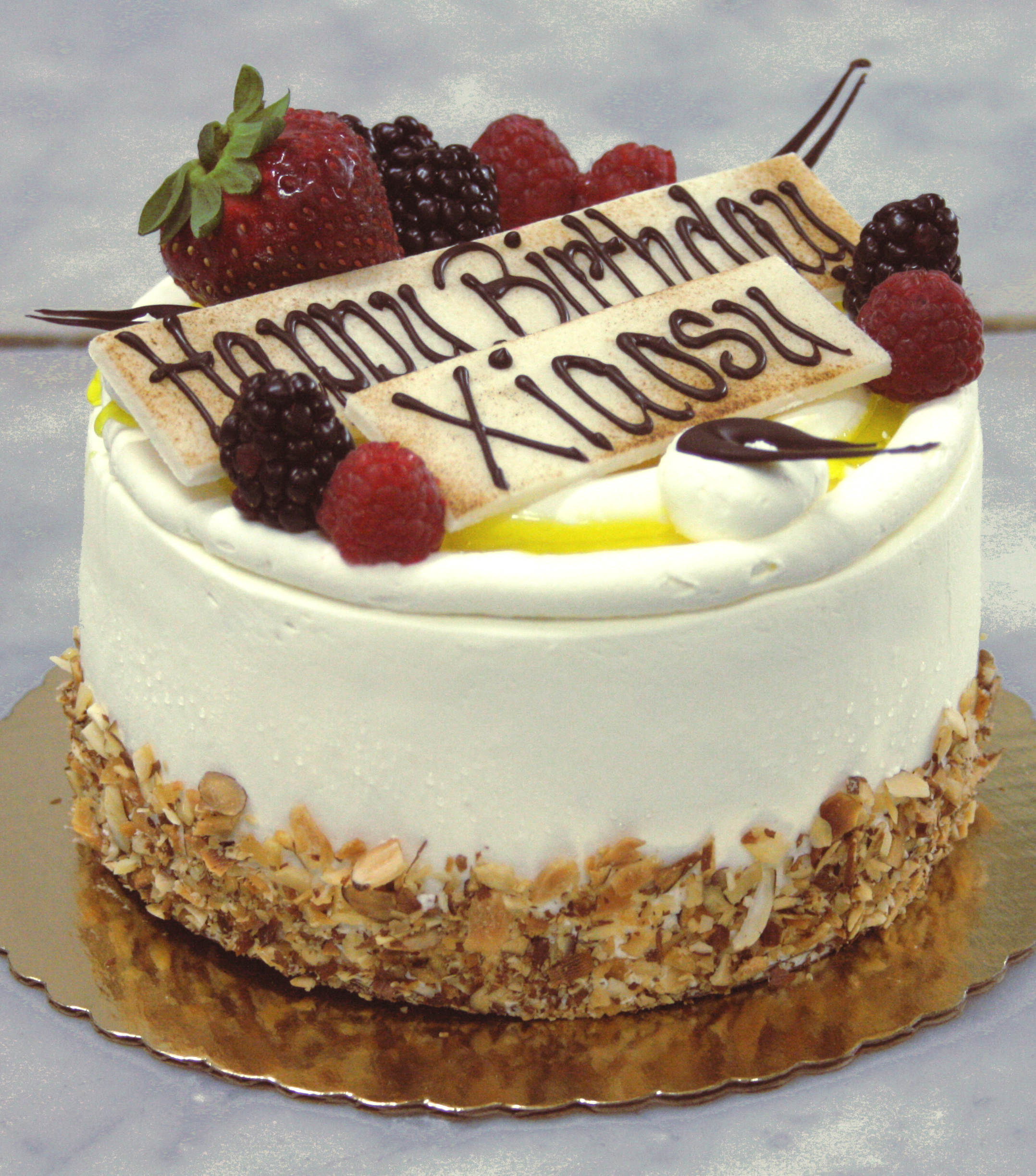 6 Inch Passion Fruit Cake With Birthday Decoration Specialty Cakes Passion Fruit Cake Cake