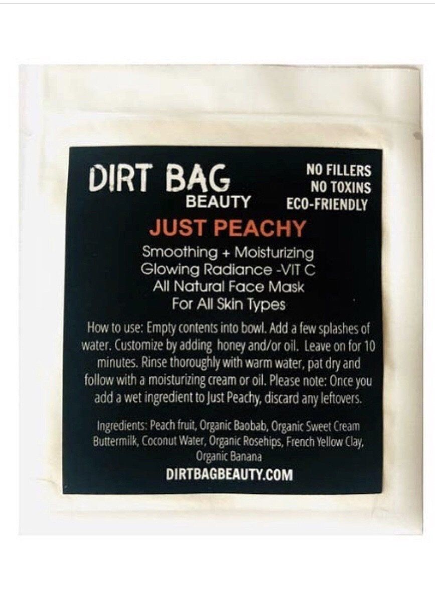 Photo of Just Peachy Face Mask Single Use